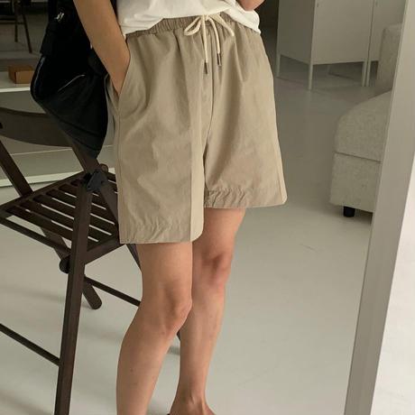 【予約販売】cotton casual half pants