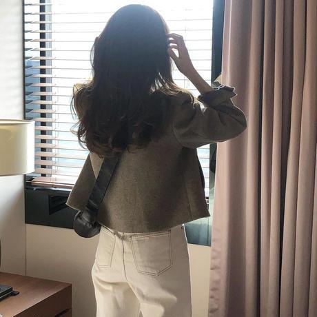 【予約販売】marino wool short jacket