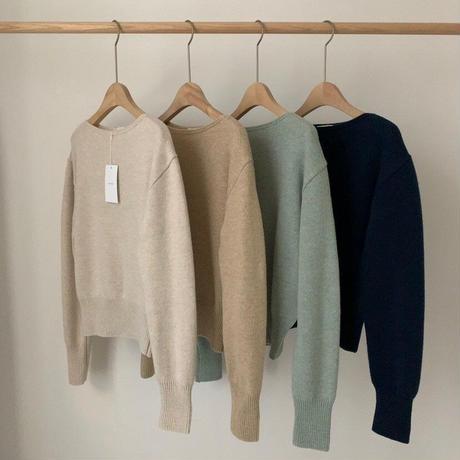 【予約販売】kathy neck knit