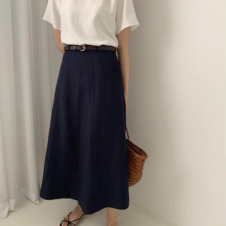 【予約販売】linen flare skirt