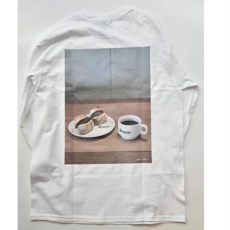 eight L/S Tee  (White)