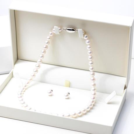 アコヤ真珠ネックレス&イヤリング2点セット [8.0〜8.5㎜]