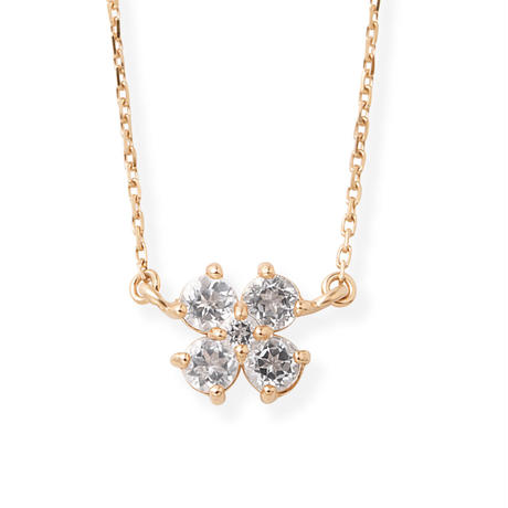 K10PG 2wayダイヤモンド/ホワイトトパーズネックレス