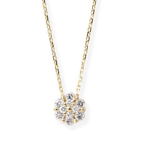 K10YGダイヤモンド0.01ct/ホワイトトパーズネックレス