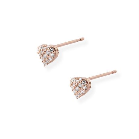 K10PGダイヤモンド0.02ct/ホワイトトパーズピアス