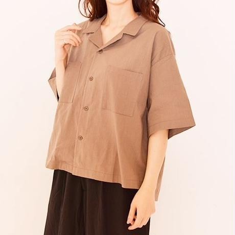 [1797tp]半袖オープンカラーシャツ
