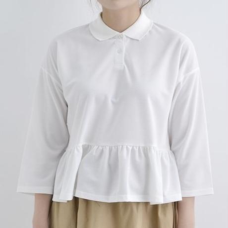 [1297tp]フリル切り替えポロシャツ