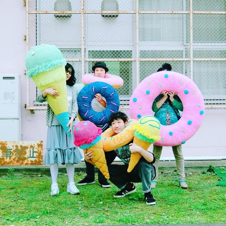 Big  Knit Donut ビッグドーナツ  [ Light Purple × Yellow] NO.3/203gow
