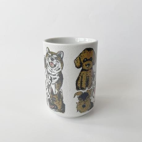 83SELECT /   湯呑み  犬猫大集合  2-Type