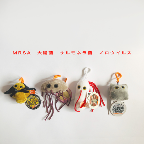 83SELECT / キーチェーン 微生物 4-Type |GIANTmicrobes