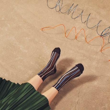 TRICOTE / HAND STRIPE SOCKS|2-Color