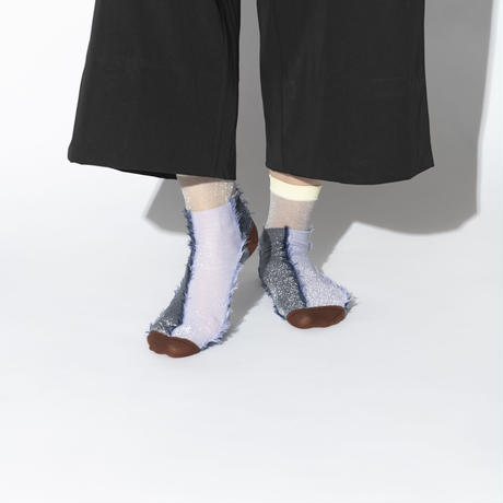 TRICOTE / INSIDE OUT LAME SOCKS|2-Color