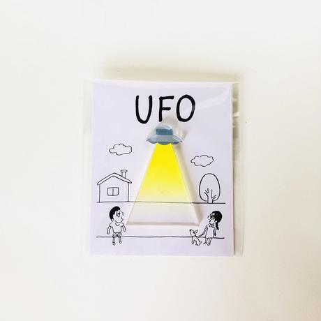UFOブローチ / 永井ミキジ