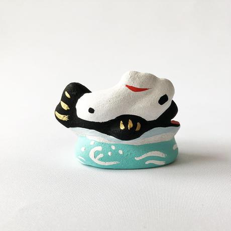 habotan / 鯨乗り招き猫|土人形 7
