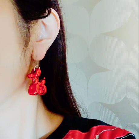 83 original / Balloon Dog  Earrings |バルーンドッグピアス  6-Color