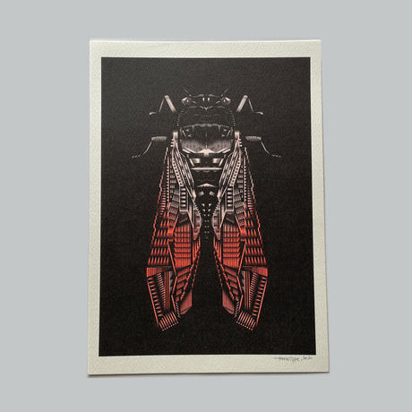 ヘルミッペ / リソグラフ ポスター 蝉