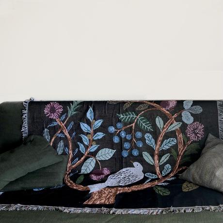 83SELECT / Miyuki Matsuo Cotton Throw Birdtree  [松尾ミユキ] マルチカバー