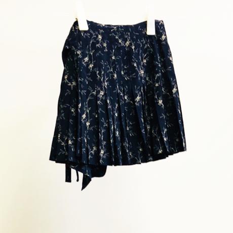 USED: アコーディオンプリーツ(巻き)スカート/agnès b
