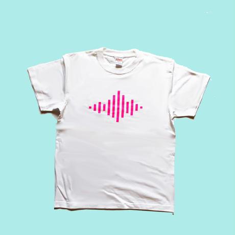 SOUND WAVE TEE ケミカルピンク/83