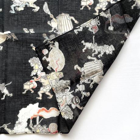 83SELECT /  大判ハンカチ 湯本豪一コレクション 妖怪づくし 百鬼夜行 2-Color
