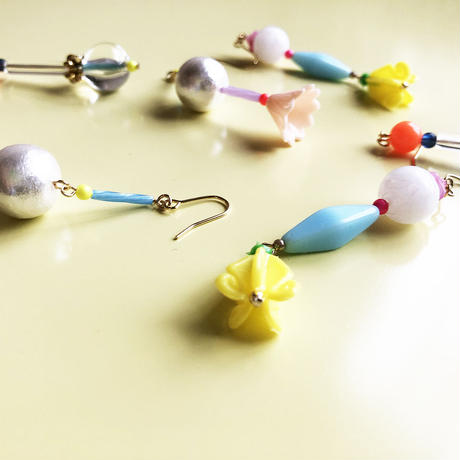 むくり  /  furicoピアス |Yellow Fish