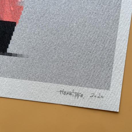 ヘルミッペ / リソグラフ ポスター イチジクと陶器