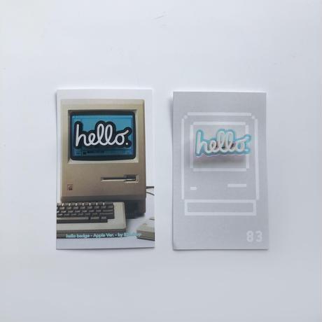 83 original  / hello 虹 badge - Apple Ver. -|S