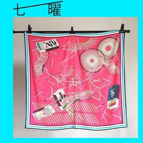baku maeda スカーフ 「七曜:the seven luminaries」Size L/前田 麦