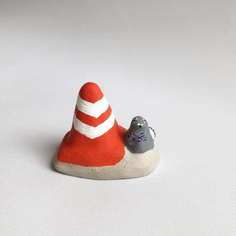 habotan /パイロンと鳩|土人形 : 14