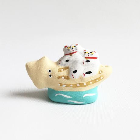 habotan / イカ乗り猫|土人形 : 07