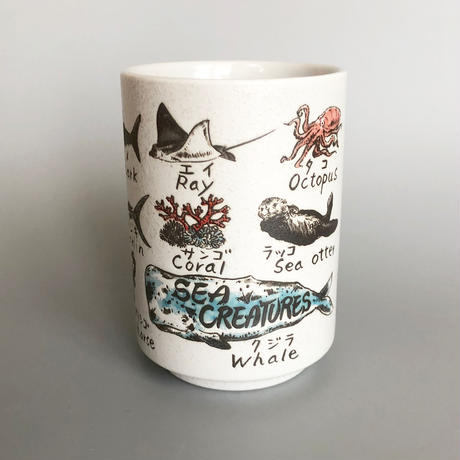 83SELECT /   寿司湯呑み 海と空の生き物|2-Type