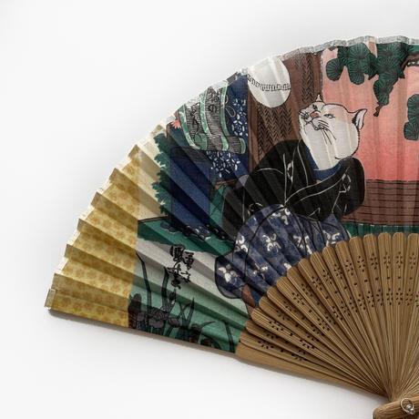 83SELECT /  扇子〈歌川国芳〉猫の曲まり団扇