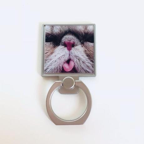 ねこのスマホリング[ Charming CAT Bunker Ring]/83