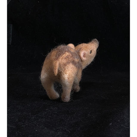 ウリ坊(おしり) 羊毛フェルト/ のそ子
