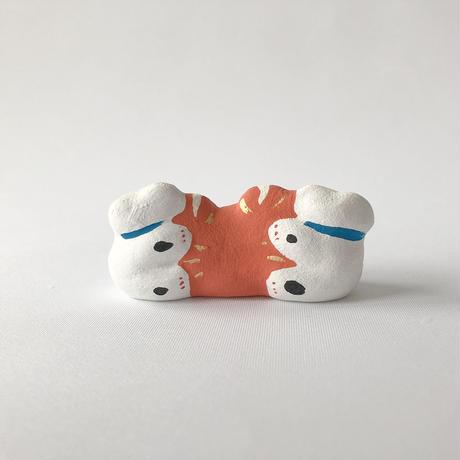 habotan / カニくっつき猫|土人形 6