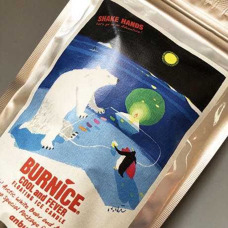 anbuy / 燃える氷 BURNICE  Illustration Label アイスキャンドル 4-set