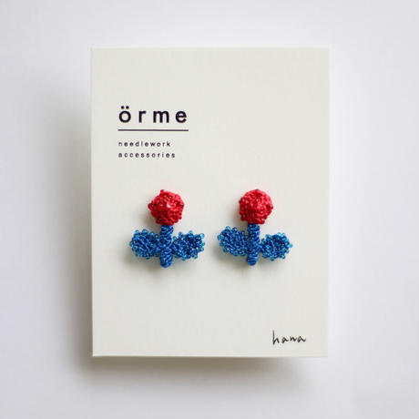 örme / hanaピアス RED&BLUE