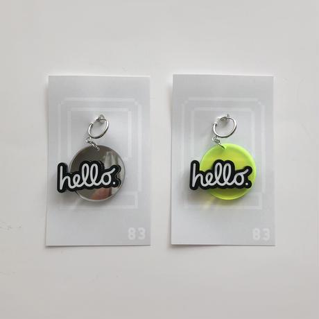 83 original & haco  / hello Black ピアス・イヤリング|単品 2-Color