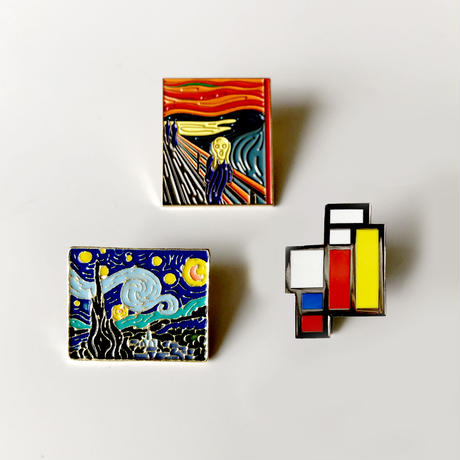 83SELECT /  PINS  ART アート ピンバッジ|3-Type