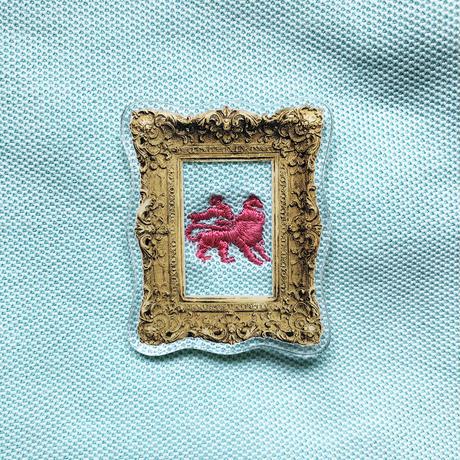 83 original  /Luxury Frame Brooch|額 Small
