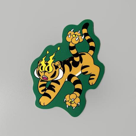 前田 麦 / EYE OF FIRE STICKER  TIGER