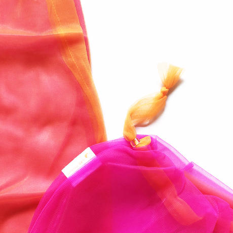 Lagimusim / Organdie BAG  [ Pink × Orange ]