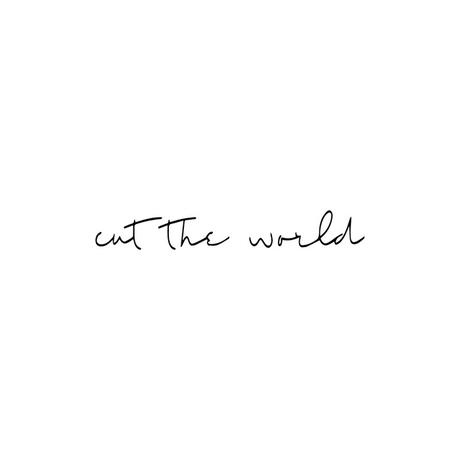 cut the world  / ロゴ ステッカー