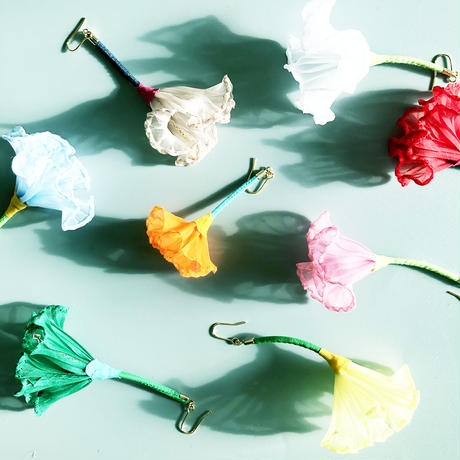 むくり  /  一輪の花ピアス PINK 2-Type