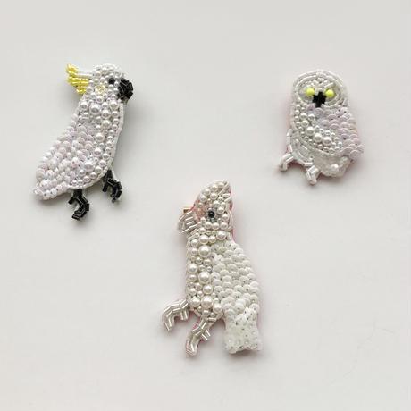 吉丸 睦 / 世界の鳥ビーズブローチ5 アカビタイムジオウム オーストラリア