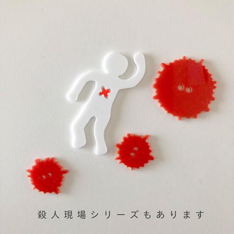 べつやくれい / ねこの飾りボタン 3セット 2-Color