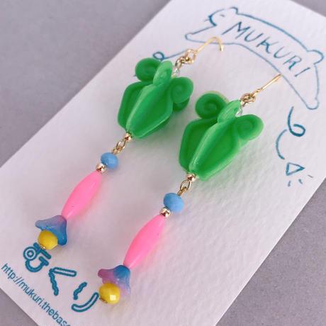 むくり  /  furicoピアス |Green