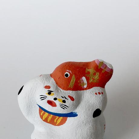 habotan / 鯛と戯れる猫 土人形 C3