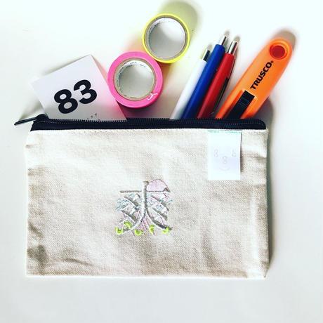 刺繍ポーチ  Makeup bag[Small]/83