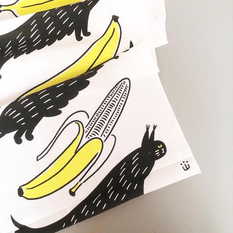 山中正大 / ねこ 手ぬぐい2020 [バナナ]